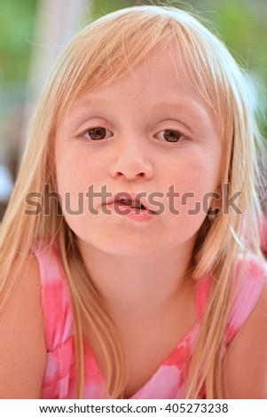 Cute little girl  - stock photo
