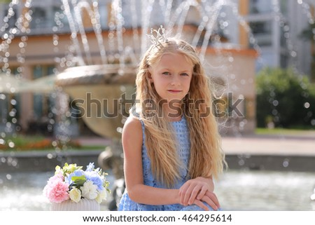 cute little girl in park