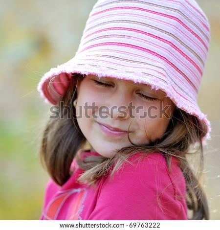cute little girl outdoor - stock photo