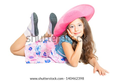 cute little girl posing