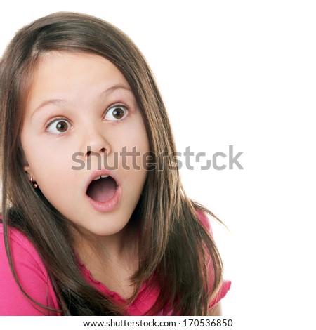 cute little girl whispering something to her sister - stock photo