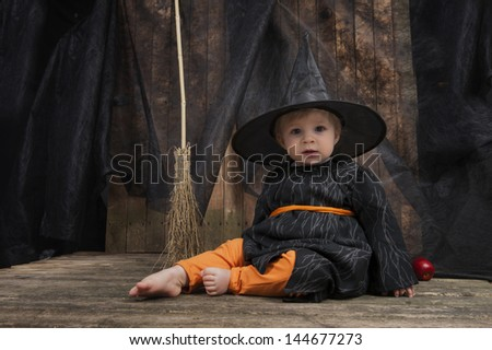 cute little halloween witch