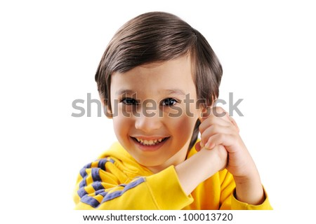 Cute little kid claping his hands