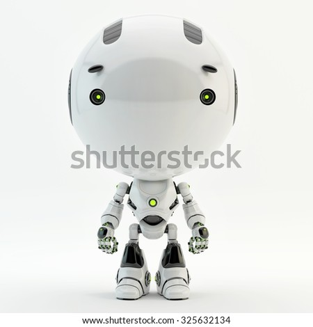 Cute little radio controlled toy - robotic toddler / Robotic toddler  - stock photo