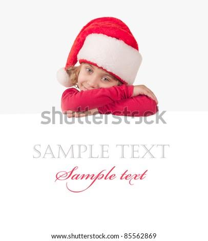 Cute little Santa helper - stock photo