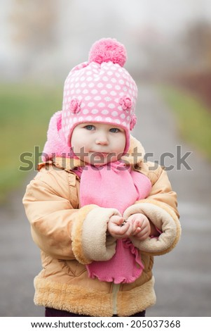 Cute little 2 years old girl - stock photo