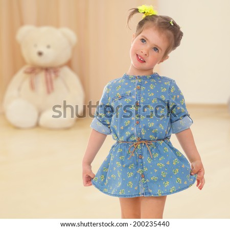 cute look young charming girl - stock photo