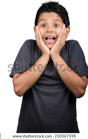 cute looking kid with nice expressions. - stock photo