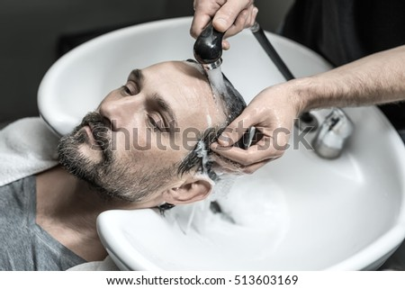 Cute Man Beard Lies On White Stock Photo (Safe to Use) 513603169 ...
