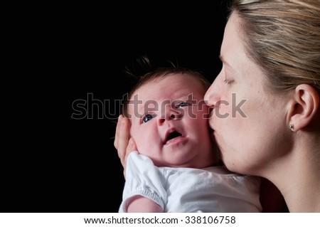 Cute new born baby - stock photo