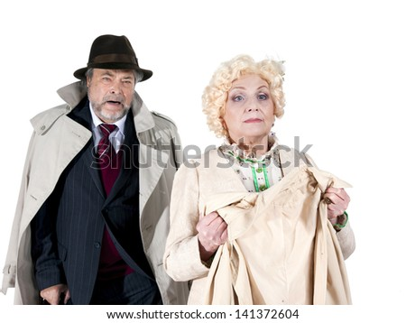 cute old people - stock photo