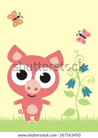 Pigs eyes Stock Photos, Images, & Pictures | Shutterstock Cute Cartoon Pigs With Big Eyes