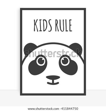 Cute poster for a child's room  - stock photo
