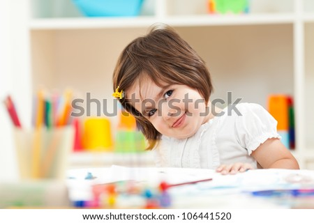 Cute preschool girl
