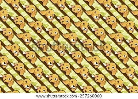 cute puppy wallpaper pattern - stock photo