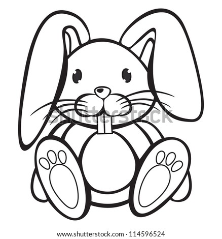 Images of Cute White Rabbits Cute Rabbit Black And White