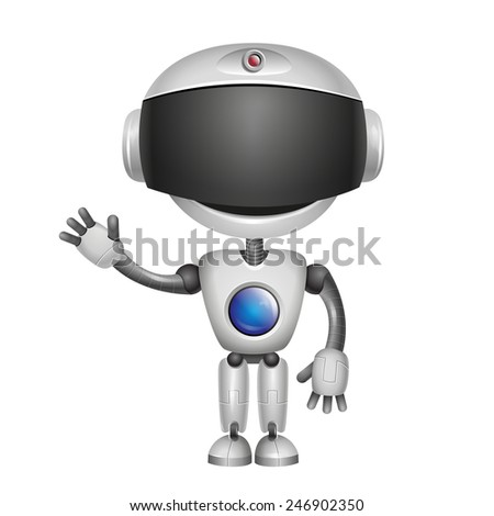 Cute Robot Isolated on white background
