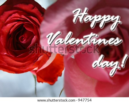 Cute Romantic Pink Red Rose Message Stock Photo 947754 - Shutterstock