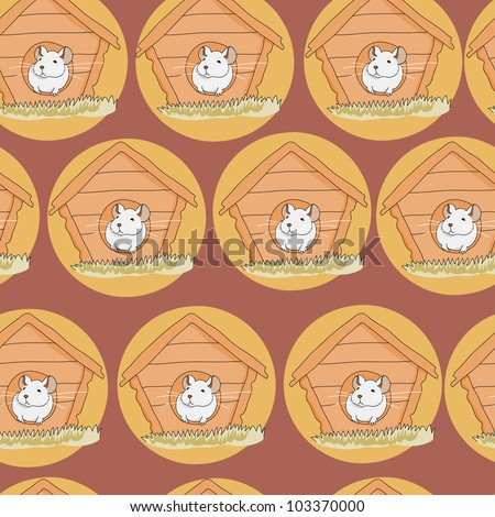 cute seamless pattern with mouse in jpg - stock photo
