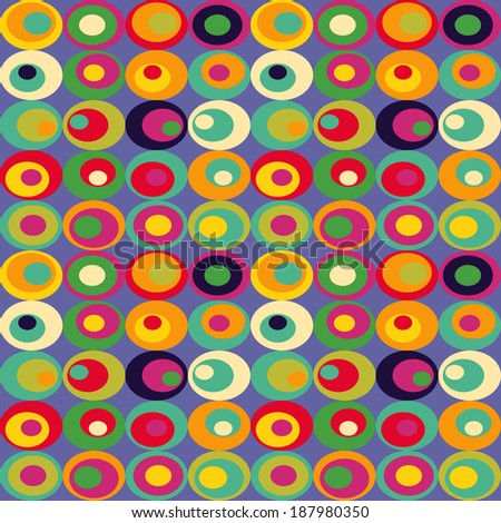 Cute seamless retro pattern of ovals. Seamless background can be used for wallpaper, pattern fills, web page background, surface textures. - stock photo