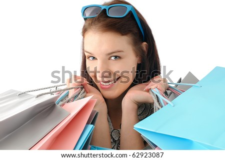 Cute shopper - stock photo