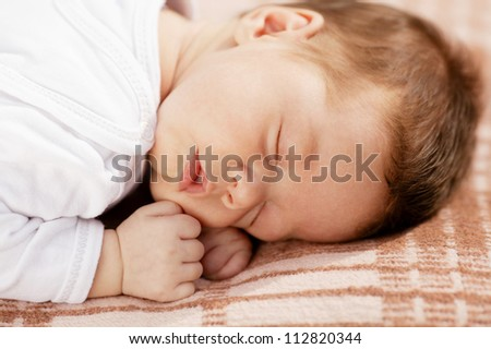 cute sleeping baby - stock photo