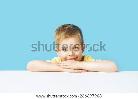 Cute small boy - stock photo