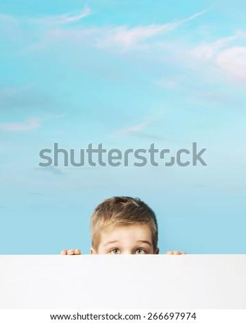 Cute small boy - stock photo