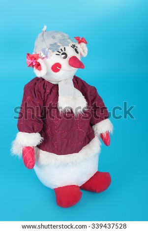 cute snowman made of textile