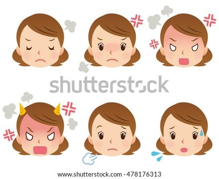 Mom Cartoon Face