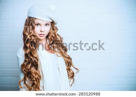 White Knit Beret