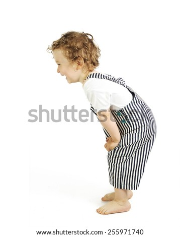 cute toddler is laughing - stock photo