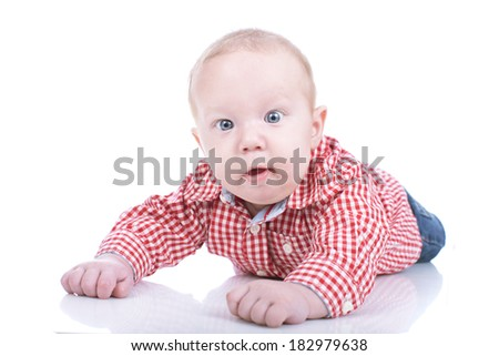 Cute toddler isolated