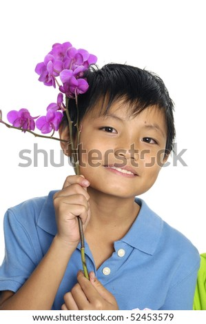 cute toddler smile - stock photo