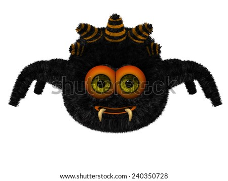 Cute toon spider - stock photo