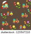 cute transport seamless pattern - stock photo