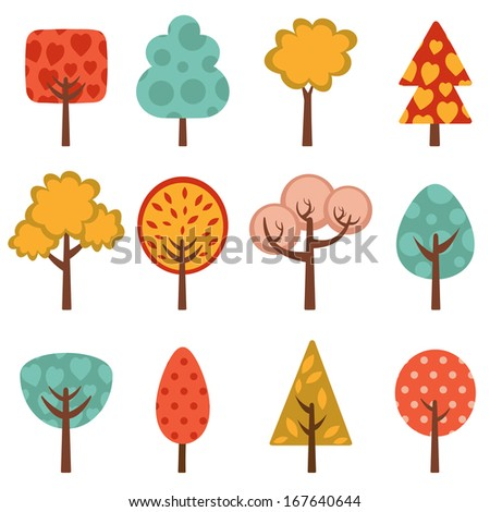 Cute trees collection