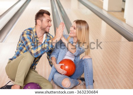 Cute two friends are spending time together - stock photo
