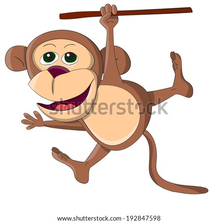 Cute unusual monkey - stock photo