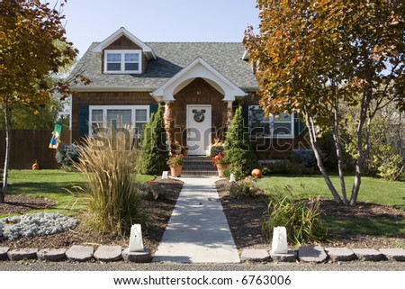 Cute vintage house in the fall