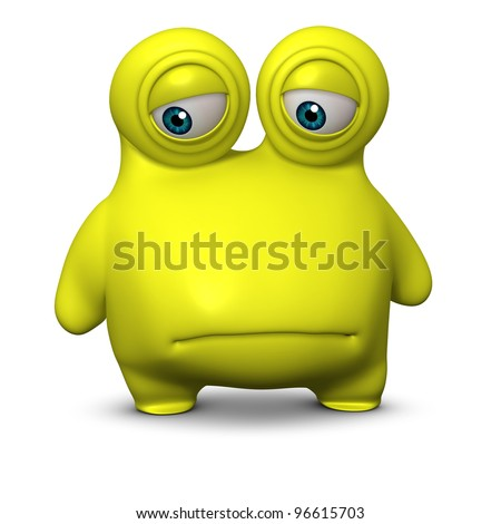 cute virus - stock photo