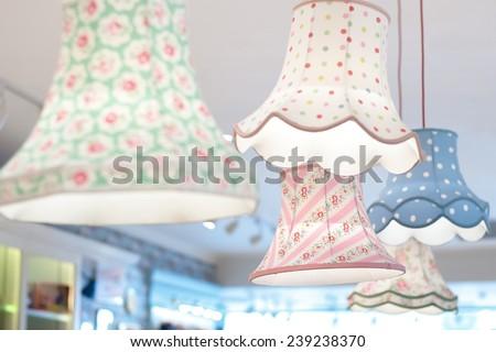 Cute wall lamp - stock photo