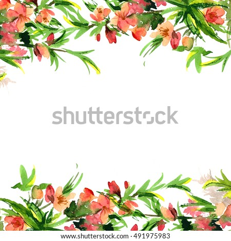 Watercolor Flower Border Stock Images, Royalty-Free Images & Vectors | Shutterstock