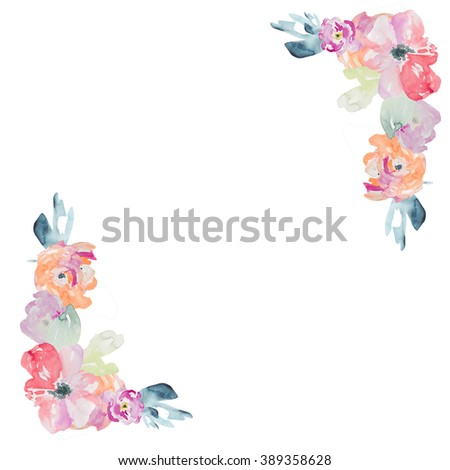 Watercolor hydrangea pattern vintage pink flowers shabby chic - Flower Corner Stock Images Royalty Free Images Amp Vectors