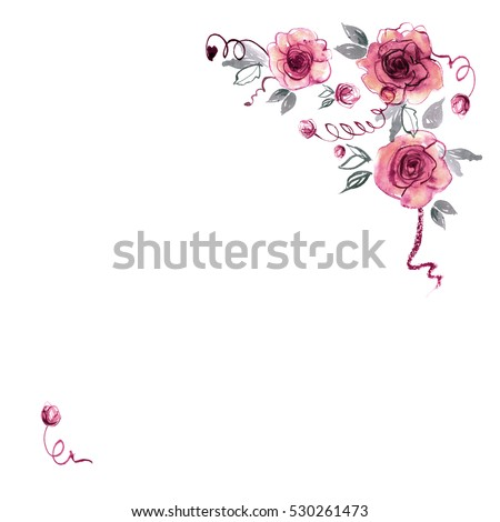 Watercolour Flower Frame Stock Images, Royalty-Free Images ...