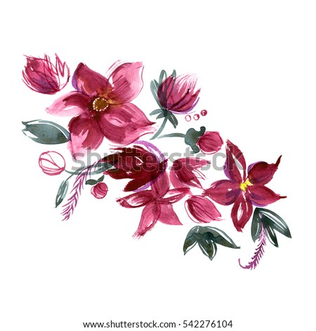 Hand Painted Flowers Stock Images Royalty Free Images
