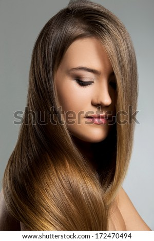 Cute woman with long hair
