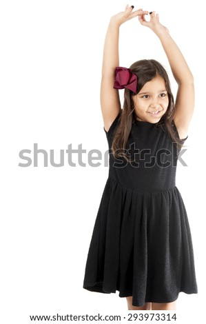 Cute young girl smilling, indoor photo .