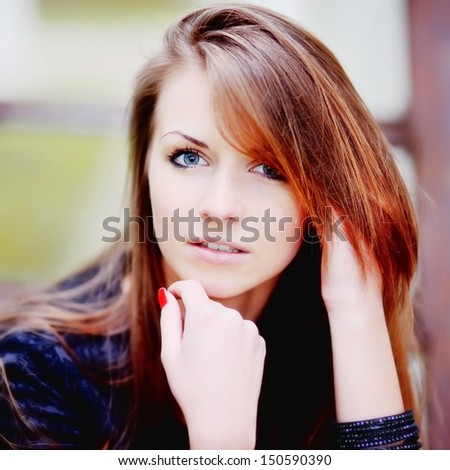 cute young woman portrait