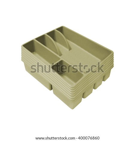 cutlery box isolated - stock photo